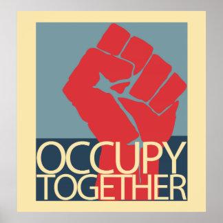 Ocupe junto el arte de la protesta ocupan Wall Str Poster