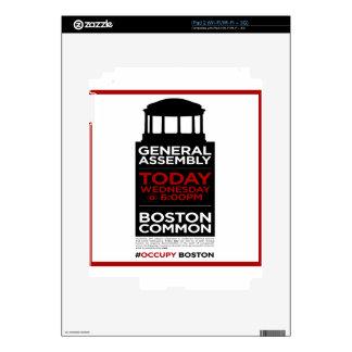 Ocupe la Asamblea General BOSTON de Wall Street Skins Para eliPad 2