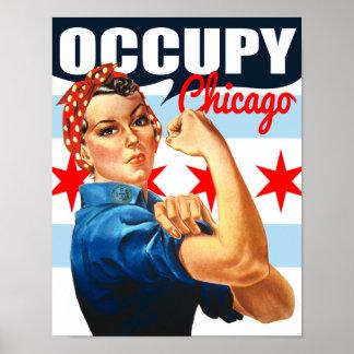Ocupe la bandera Rosie de Chicago el poster del re