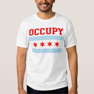 Ocupe la camiseta de la bandera de Chicago Playera