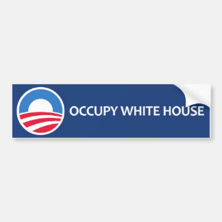 Ocupe la Casa Blanca Etiqueta De Parachoque