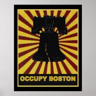 Ocupe la impresión de Boston en la lona enorme - h Posters
