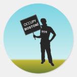 Ocupe la muestra de Boston Pegatina Redonda