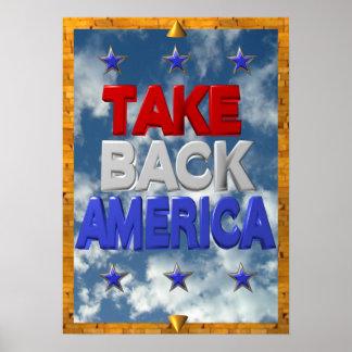 Ocupe la muestra de la protesta de América Poster