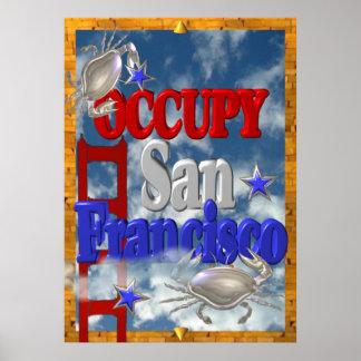 Ocupe la muestra de San Francisco de la protesta Poster