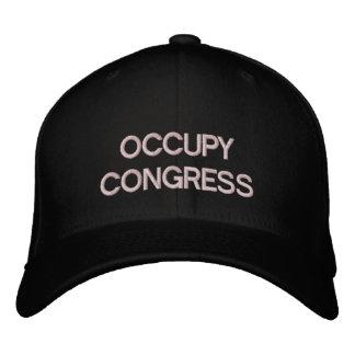 Ocupe la plantilla del casquillo del congreso gorra de béisbol bordada