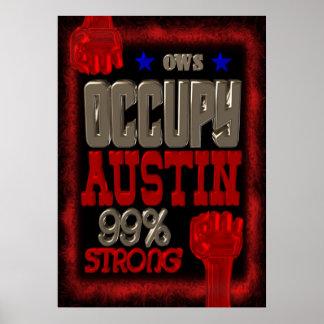 Ocupe la protesta de Austin OWS poster fuerte del