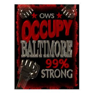 Ocupe la protesta de Baltimore OWS el 99 por Tarjeta Postal
