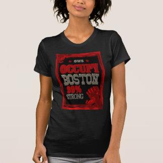 Ocupe la protesta de Boston OWS poster fuerte del Camisetas