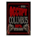 Ocupe la protesta de Columbus OWS el 99 por ciento Poster