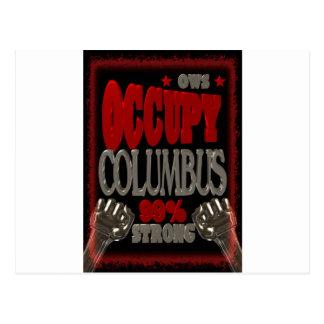 Ocupe la protesta de Columbus OWS el 99 por ciento Postal