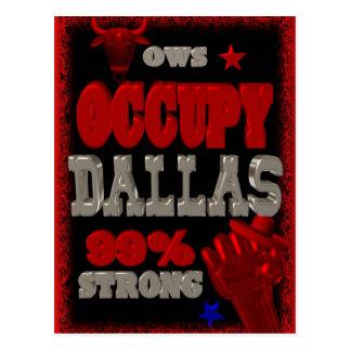 Ocupe la protesta de Dallas OWS el 99 por ciento Tarjeta Postal