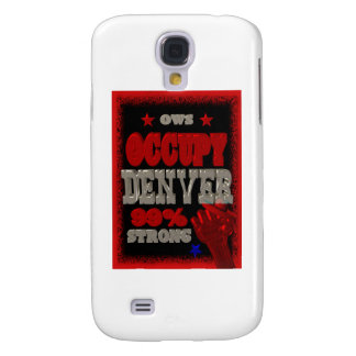 Ocupe la protesta de Denver OWS el 99 por ciento d Funda Para Galaxy S4