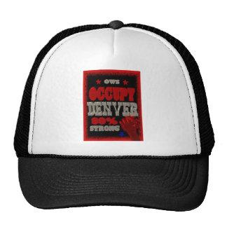 Ocupe la protesta de Denver OWS el 99 por ciento d Gorros Bordados