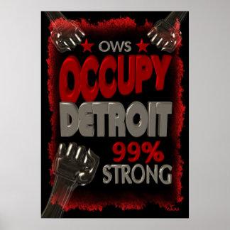 Ocupe la protesta de Detroit OWS el 99 por ciento  Impresiones