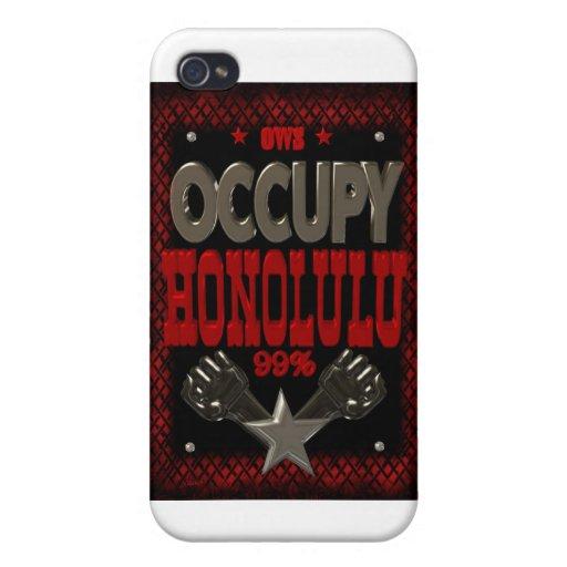 Ocupe la protesta de Honolulu OWS el 99 por ciento iPhone 4 Cárcasa