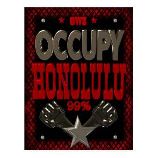 Ocupe la protesta de Honolulu OWS el 99 por ciento Tarjetas Postales