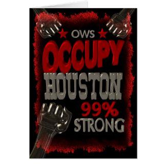 Ocupe la protesta de Houston OWS el 99 por ciento Tarjeta De Felicitación