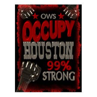 Ocupe la protesta de Houston OWS el 99 por ciento Tarjetas Postales