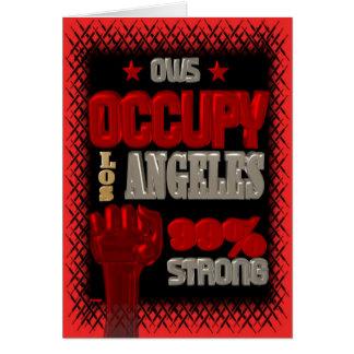 Ocupe la protesta de Los Ángeles OWS el 99 por Tarjeta De Felicitación
