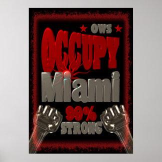 Ocupe la protesta de Miami OWS el 99 por ciento de Posters