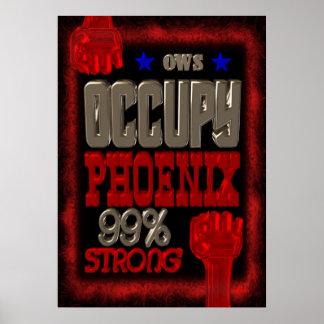 Ocupe la protesta de Phoenix OWS el 99 por ciento  Posters