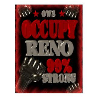 Ocupe la protesta de Reno OWS poster fuerte del 99 Tarjetas Postales