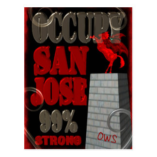 Ocupe la protesta de San Jose OWS el 99 por ciento Tarjetas Postales