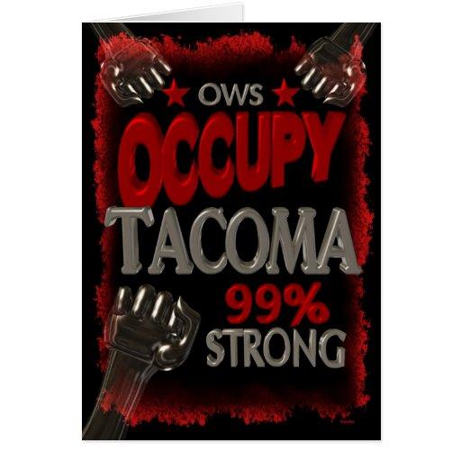 Ocupe la protesta de Tacoma OWS el 99 por ciento d Felicitación