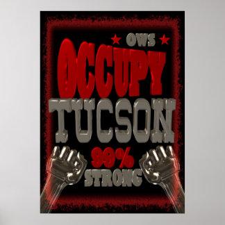 Ocupe la protesta de Tucson OWS el 99 por ciento d Poster