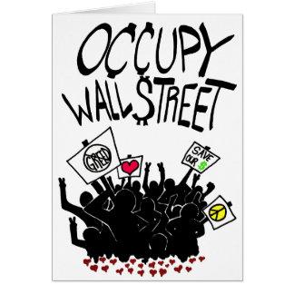 Ocupe la protesta de Wall Street Tarjeta De Felicitación