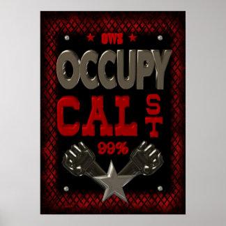 Ocupe la protesta del estado OWS de la caloría el  Posters