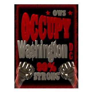 Ocupe la protesta del Washington DC OWS el 99 por Tarjeta Postal