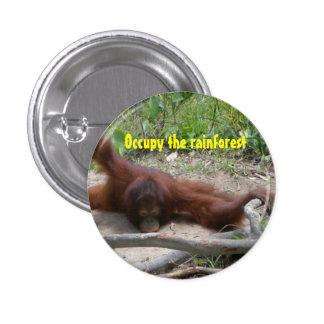 Ocupe la selva tropical pin redondo de 1 pulgada