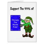 Ocupe la tarjeta de Navidad de la protesta del due
