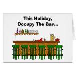 Ocupe la tarjeta de Navidad divertida de la barra