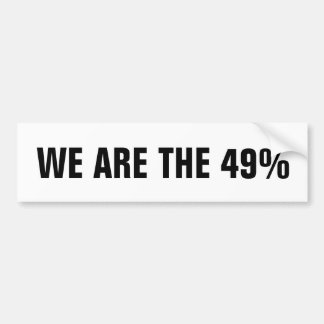 Ocupe las reuniones del Consejo el 49% Pegatina De Parachoque