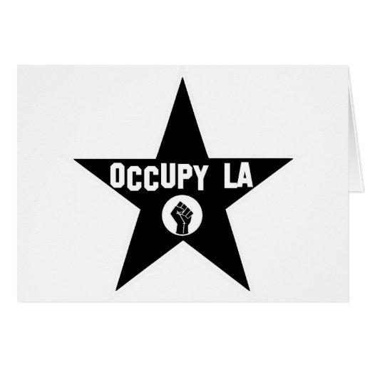 Ocupe Los Ángeles Tarjeta De Felicitación