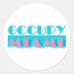 Ocupe Miami Pegatinas Redondas