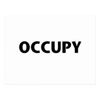 Ocupe (negro en blanco) tarjeta postal