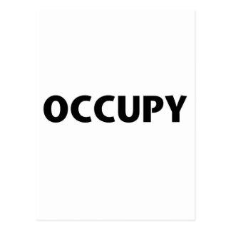 Ocupe (negro en blanco) tarjetas postales