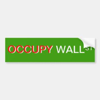 """Ocupe pegatina para el parachoques de Wall Street Pegatina Para Auto"