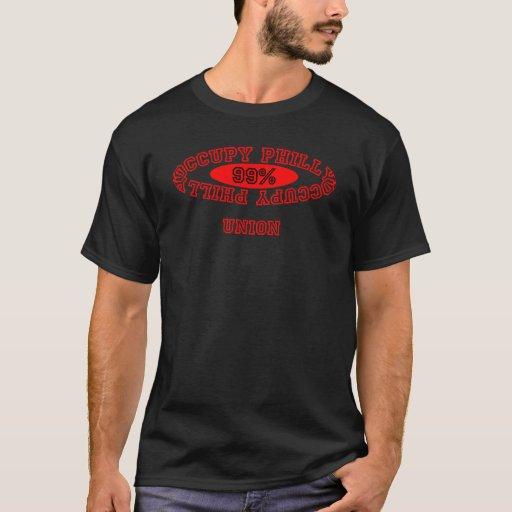 """Ocupe Philly - camisetas oscuro de la """"unión"""""""