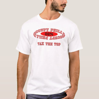"Ocupe Philly - ""grave"" el camisetas ligero"