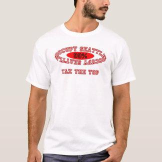 "Ocupe Seattle - ""grave"" el camisetas ligero"