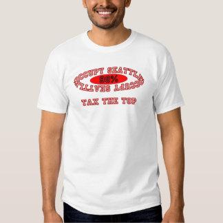 "Ocupe Seattle - ""grave"" el camisetas ligero Playeras"