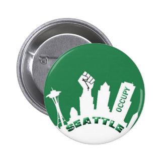 Ocupe Seattle Pin Redondo 5 Cm