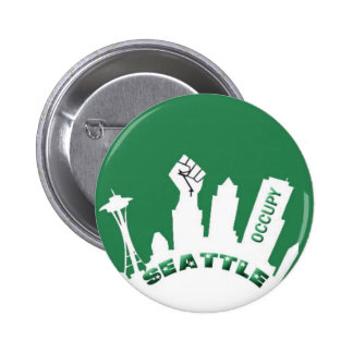 Ocupe Seattle Pin Redondo De 2 Pulgadas