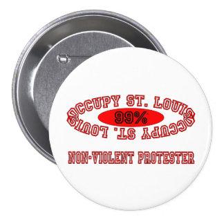 Ocupe St. Louis - botón no violento del manifestan Pin