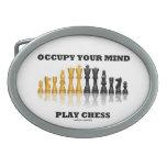 Ocupe su ajedrez del juego de la mente (el juego d hebilla de cinturon oval